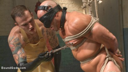 Photo number 2 from Christian Wilde's Latex Meat Locker shot for Bound Gods on Kink.com. Featuring Christian Wilde and Coby Mitchell in hardcore BDSM & Fetish porn.