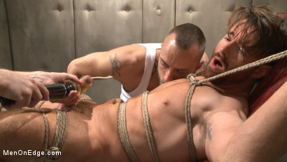 Photo number 14 from Horny mental patient hallucinates a dual edging shot for Men On Edge on Kink.com. Featuring Brendan Patrick in hardcore BDSM & Fetish porn.