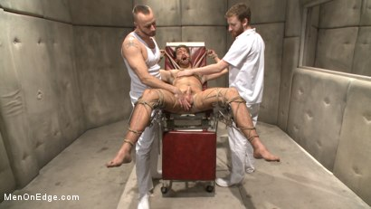 Photo number 8 from Horny mental patient hallucinates a dual edging shot for Men On Edge on Kink.com. Featuring Brendan Patrick in hardcore BDSM & Fetish porn.