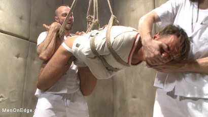 Photo number 3 from Horny mental patient hallucinates a dual edging shot for Men On Edge on Kink.com. Featuring Brendan Patrick in hardcore BDSM & Fetish porn.