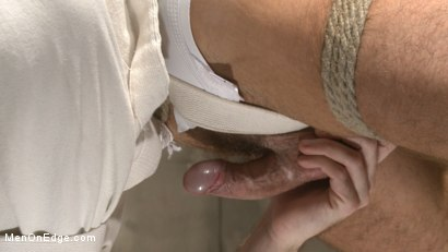 Photo number 4 from Horny mental patient hallucinates a dual edging shot for Men On Edge on Kink.com. Featuring Brendan Patrick in hardcore BDSM & Fetish porn.