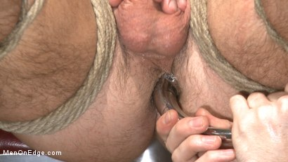 Photo number 10 from Horny mental patient hallucinates a dual edging shot for Men On Edge on Kink.com. Featuring Brendan Patrick in hardcore BDSM & Fetish porn.