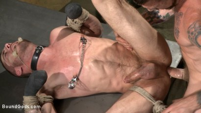 Photo number 11 from The Dog Catcher  shot for Bound Gods on Kink.com. Featuring Rocco Steele and Tryp Bates in hardcore BDSM & Fetish porn.