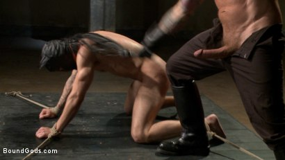 Photo number 8 from The Dog Catcher  shot for Bound Gods on Kink.com. Featuring Rocco Steele and Tryp Bates in hardcore BDSM & Fetish porn.
