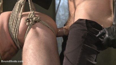 Photo number 10 from The Dog Catcher  shot for Bound Gods on Kink.com. Featuring Rocco Steele and Tryp Bates in hardcore BDSM & Fetish porn.