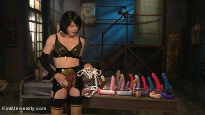 Photo number 3 from Strap-on Sex: Oral, Vaginal, & Anal shot for Kink University on Kink.com. Featuring Lady Frost and Kay Kardia in hardcore BDSM & Fetish porn.