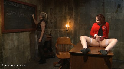 Photo number 15 from Dirty Talk shot for Kink University on Kink.com. Featuring Piper Rage and Tina Horn in hardcore BDSM & Fetish porn.