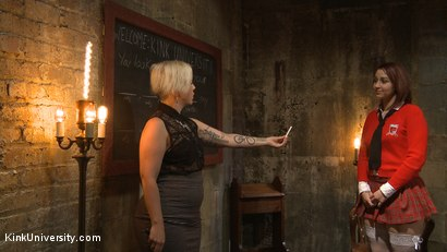 Photo number 5 from Dirty Talk shot for Kink University on Kink.com. Featuring Piper Rage and Tina Horn in hardcore BDSM & Fetish porn.