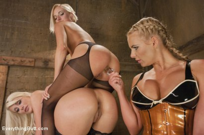 Photo number 4 from Part 1 Teaser. Kate England and Riley Jenner meet Phoenix Marie shot for Everything Butt on Kink.com. Featuring Riley Jenner, Kate England and Phoenix Marie in hardcore BDSM & Fetish porn.