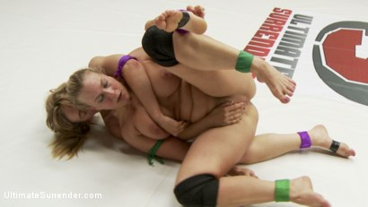 Photo number 14 from First Match for Summer Vengeance 2015 Angel Allwood vs Mona Wales shot for Ultimate Surrender on Kink.com. Featuring Mona Wales and Angel Allwood in hardcore BDSM & Fetish porn.