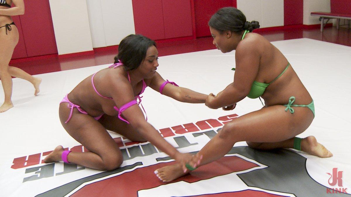 Photo number 4 from Two Big Tit Big Ass Ebony Goddesses Sex fight. Winner fucks Loser shot for Ultimate Surrender on Kink.com. Featuring Lisa Tiffian and Yasmine Loven in hardcore BDSM & Fetish porn.