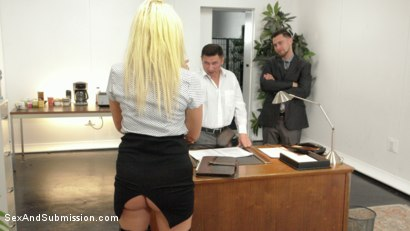 Photo number 2 from Submissive Secretary Does Double Penetration Duty shot for Sex And Submission on Kink.com. Featuring John Strong, Seth Gamble and Layla Price in hardcore BDSM & Fetish porn.