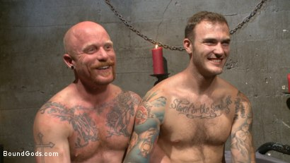 Photo number 15 from Christian Wilde beats the obedience back into a mouthy slave shot for Bound Gods on Kink.com. Featuring Christian Wilde and Brock Rustin in hardcore BDSM & Fetish porn.