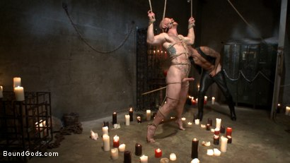 Photo number 10 from Christian Wilde beats the obedience back into a mouthy slave shot for Bound Gods on Kink.com. Featuring Christian Wilde and Brock Rustin in hardcore BDSM & Fetish porn.