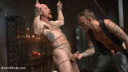 Photo number 7 from Christian Wilde beats the obedience back into a mouthy slave shot for Bound Gods on Kink.com. Featuring Christian Wilde and Brock Rustin in hardcore BDSM & Fetish porn.