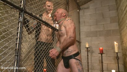 Photo number 1 from Christian Wilde beats the obedience back into a mouthy slave shot for Bound Gods on Kink.com. Featuring Christian Wilde and Brock Rustin in hardcore BDSM & Fetish porn.