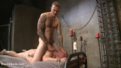 Photo number 14 from Christian Wilde beats the obedience back into a mouthy slave shot for Bound Gods on Kink.com. Featuring Christian Wilde and Brock Rustin in hardcore BDSM & Fetish porn.