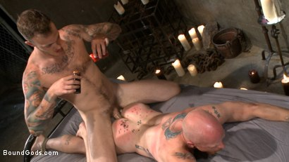Photo number 12 from Christian Wilde beats the obedience back into a mouthy slave shot for Bound Gods on Kink.com. Featuring Christian Wilde and Brock Rustin in hardcore BDSM & Fetish porn.