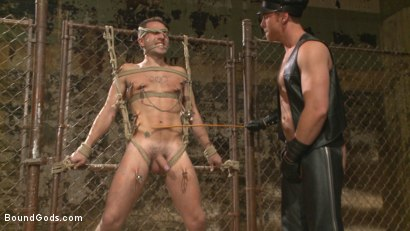 Photo number 2 from Connor Maguire tests his slave's hunger for pain shot for Bound Gods on Kink.com. Featuring Connor Maguire and Dylan Knight in hardcore BDSM & Fetish porn.