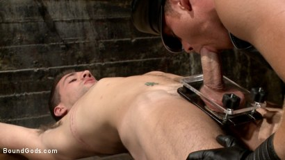 Photo number 7 from Connor Maguire tests his slave's hunger for pain shot for Bound Gods on Kink.com. Featuring Connor Maguire and Dylan Knight in hardcore BDSM & Fetish porn.