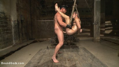 Photo number 12 from Connor Maguire tests his slave's hunger for pain shot for Bound Gods on Kink.com. Featuring Connor Maguire and Dylan Knight in hardcore BDSM & Fetish porn.