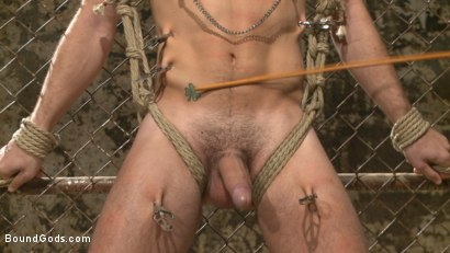 Photo number 3 from Connor Maguire tests his slave's hunger for pain shot for Bound Gods on Kink.com. Featuring Connor Maguire and Dylan Knight in hardcore BDSM & Fetish porn.