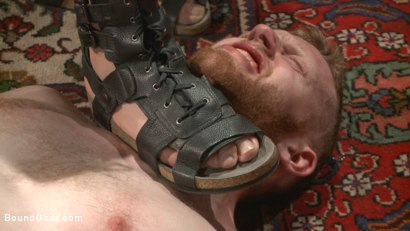 Photo number 2 from Roman slave offers his entire body to the whims of his cruel Dominus shot for Bound Gods on Kink.com. Featuring Cass Bolton and Trenton Ducati in hardcore BDSM & Fetish porn.