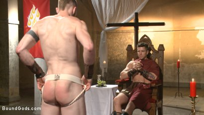Photo number 1 from Roman slave offers his entire body to the whims of his cruel Dominus shot for Bound Gods on Kink.com. Featuring Cass Bolton and Trenton Ducati in hardcore BDSM & Fetish porn.