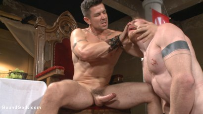 Photo number 12 from Roman slave offers his entire body to the whims of his cruel Dominus shot for Bound Gods on Kink.com. Featuring Cass Bolton and Trenton Ducati in hardcore BDSM & Fetish porn.