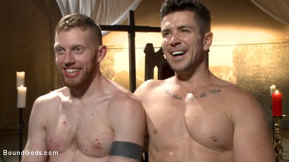 Photo number 15 from Roman slave offers his entire body to the whims of his cruel Dominus shot for Bound Gods on Kink.com. Featuring Cass Bolton and Trenton Ducati in hardcore BDSM & Fetish porn.