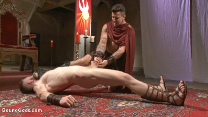 Photo number 3 from Roman slave offers his entire body to the whims of his cruel Dominus shot for Bound Gods on Kink.com. Featuring Cass Bolton and Trenton Ducati in hardcore BDSM & Fetish porn.