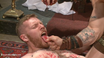 Photo number 5 from Roman slave offers his entire body to the whims of his cruel Dominus shot for Bound Gods on Kink.com. Featuring Cass Bolton and Trenton Ducati in hardcore BDSM & Fetish porn.