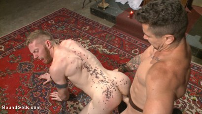 Photo number 6 from Roman slave offers his entire body to the whims of his cruel Dominus shot for Bound Gods on Kink.com. Featuring Cass Bolton and Trenton Ducati in hardcore BDSM & Fetish porn.