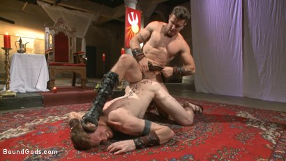 Photo number 7 from Roman slave offers his entire body to the whims of his cruel Dominus shot for Bound Gods on Kink.com. Featuring Cass Bolton and Trenton Ducati in hardcore BDSM & Fetish porn.
