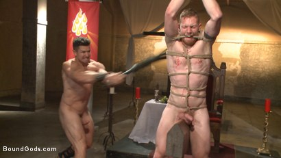 Photo number 8 from Roman slave offers his entire body to the whims of his cruel Dominus shot for Bound Gods on Kink.com. Featuring Cass Bolton and Trenton Ducati in hardcore BDSM & Fetish porn.
