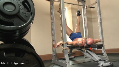 Photo number 2 from Pervy handyman has his way with a hot muscle god at the gym shot for Men On Edge on Kink.com. Featuring Mitch Vaughn in hardcore BDSM & Fetish porn.