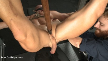 Photo number 6 from Pervy handyman has his way with a hot muscle god at the gym shot for Men On Edge on Kink.com. Featuring Mitch Vaughn in hardcore BDSM & Fetish porn.