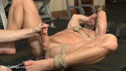 Photo number 11 from Pervy handyman has his way with a hot muscle god at the gym shot for Men On Edge on Kink.com. Featuring Mitch Vaughn in hardcore BDSM & Fetish porn.
