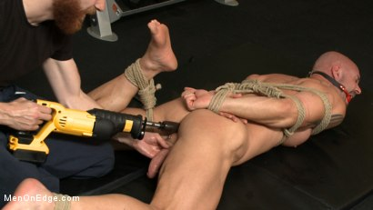 Pervy handyman has his way with a hot muscle god at the gym