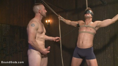 Photo number 2 from Tormented Without Mercy - Connor Patricks suffers tight metal bondage shot for Bound Gods on Kink.com. Featuring Adam Herst and Connor Patricks in hardcore BDSM & Fetish porn.