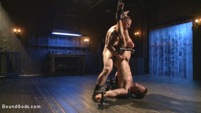 Photo number 7 from Tormented Without Mercy - Connor Patricks suffers tight metal bondage shot for Bound Gods on Kink.com. Featuring Adam Herst and Connor Patricks in hardcore BDSM & Fetish porn.