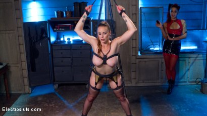 Photo number 1 from Tough Ass Bitch and the Electro Queen shot for Electro Sluts on Kink.com. Featuring Daisy Ducati and Bella Rossi in hardcore BDSM & Fetish porn.