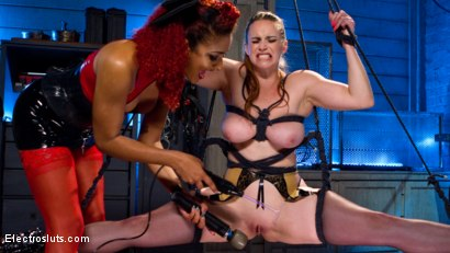 Photo number 3 from Tough Ass Bitch and the Electro Queen shot for Electro Sluts on Kink.com. Featuring Daisy Ducati and Bella Rossi in hardcore BDSM & Fetish porn.