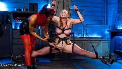 Photo number 2 from Tough Ass Bitch and the Electro Queen shot for Electro Sluts on Kink.com. Featuring Daisy Ducati and Bella Rossi in hardcore BDSM & Fetish porn.
