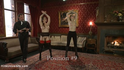 Photo number 21 from Position Training: Advanced shot for Kink University on Kink.com. Featuring Shay Tiziano, Maestro Stefanos and Bella Rossi in hardcore BDSM & Fetish porn.