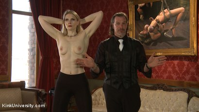 Photo number 12 from Position Training: Advanced shot for Kink University on Kink.com. Featuring Shay Tiziano, Maestro Stefanos and Bella Rossi in hardcore BDSM & Fetish porn.