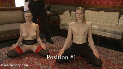 Photo number 13 from Position Training: Advanced shot for Kink University on Kink.com. Featuring Shay Tiziano, Maestro Stefanos and Bella Rossi in hardcore BDSM & Fetish porn.