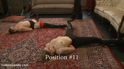 Photo number 23 from Position Training: Advanced shot for Kink University on Kink.com. Featuring Shay Tiziano, Maestro Stefanos and Bella Rossi in hardcore BDSM & Fetish porn.