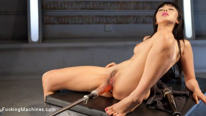 Photo number 9 from Asian Bombshell First Timer on Fucking Machines!!! shot for Fucking Machines on Kink.com. Featuring Marica Hase in hardcore BDSM & Fetish porn.