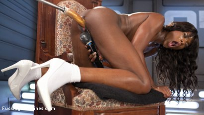 Photo number 5 from Ebony Barbie Squirts On Massive Cocks And Begs For More!! shot for Fucking Machines on Kink.com. Featuring Ana Foxxx in hardcore BDSM & Fetish porn.